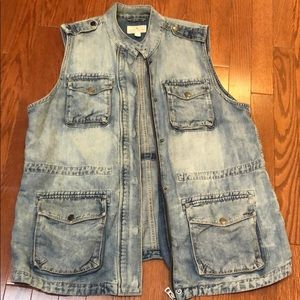 Sleeveless Lucky Brand Denim Jacket